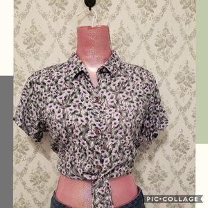Button up crop top